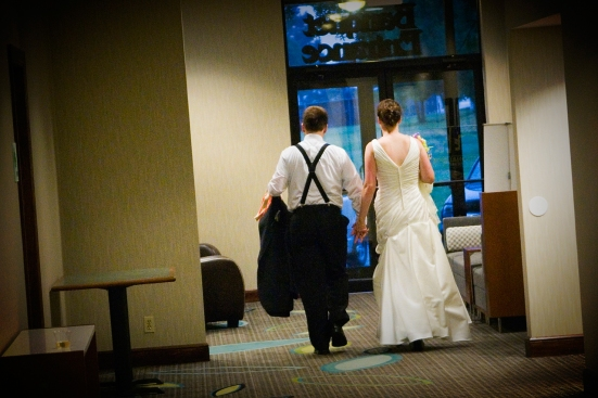 Walking away from a fantastic party with the love of my life.